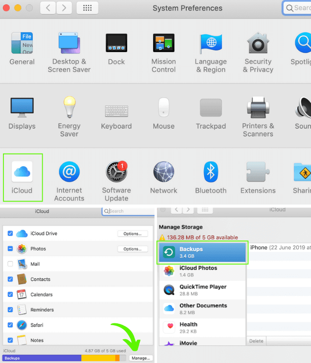 How to clear space on iCloud from a Mac